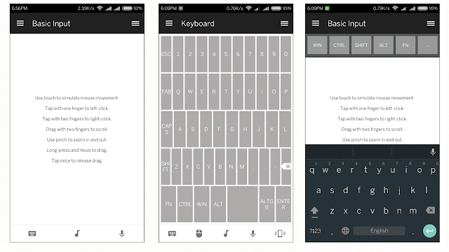 Mouse Keyboard Unified remote Android