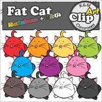 Fat Cat Rainbow Clip Art