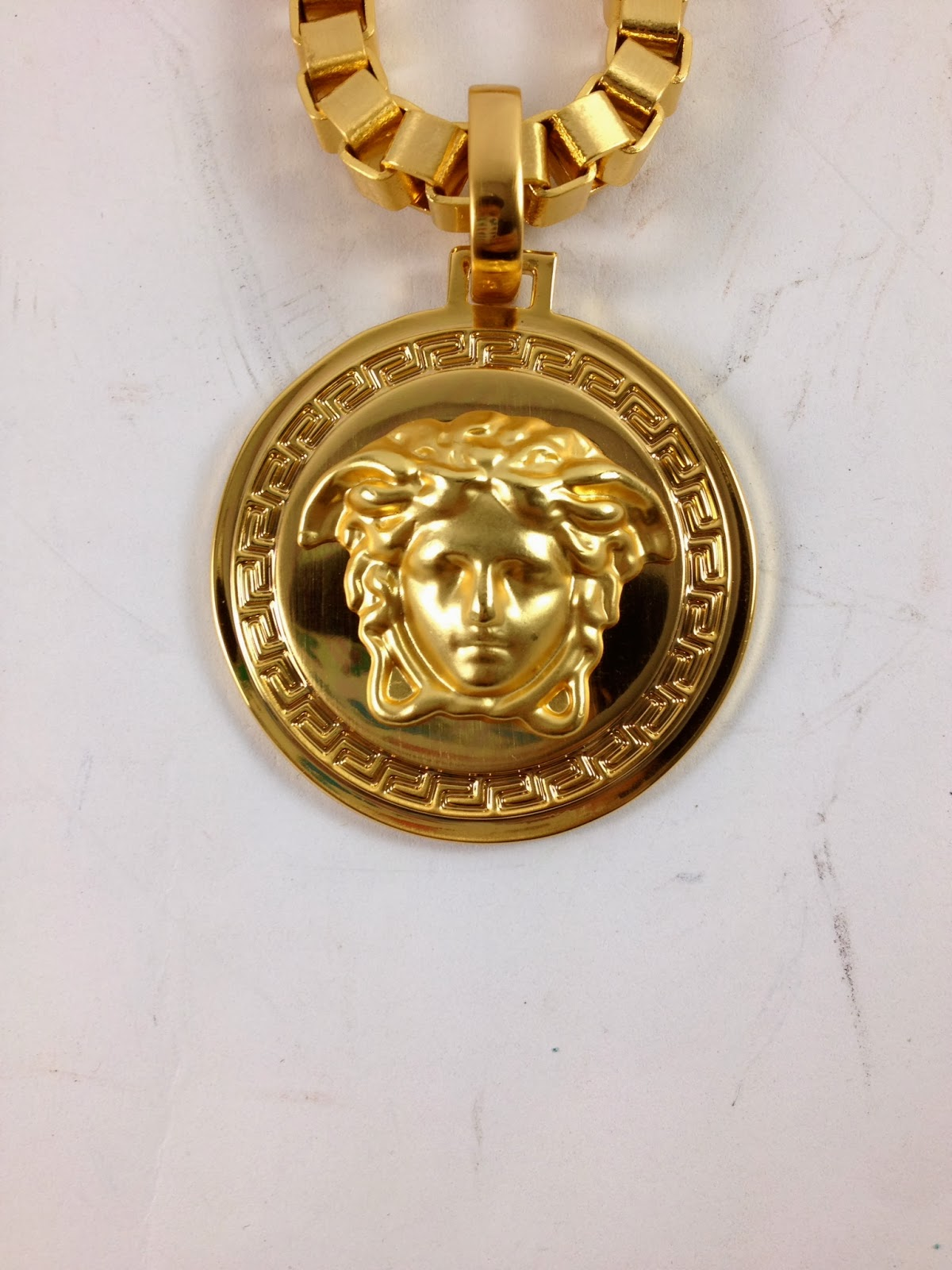 Don D World Versace Medusa Ring And Chain