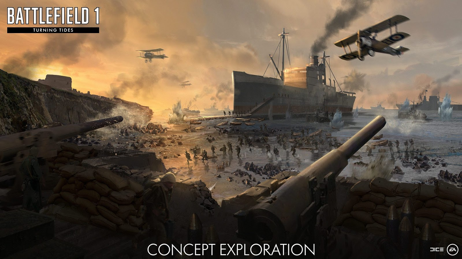 Battlefield 1 Turning Tides New Expansion For Pcxbox Oneps4 Game Ps4 Achi Baba Get Into The British Big Assault On Gallipoli Peninsula And Join Treacherous Push To Prominent Hilltop