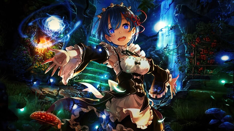 Rem, Re:Zero, Anime, Girl, Maid, 4K, #4.2707
