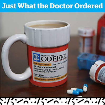 The Prescription Coffee Mug, Ceramic, Funny Gift for the Caffeine Lover