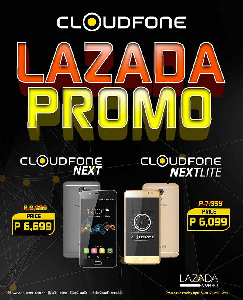 CloudFone Next, Next Lite Lazada Flash Sale, Price Starts At 6099!