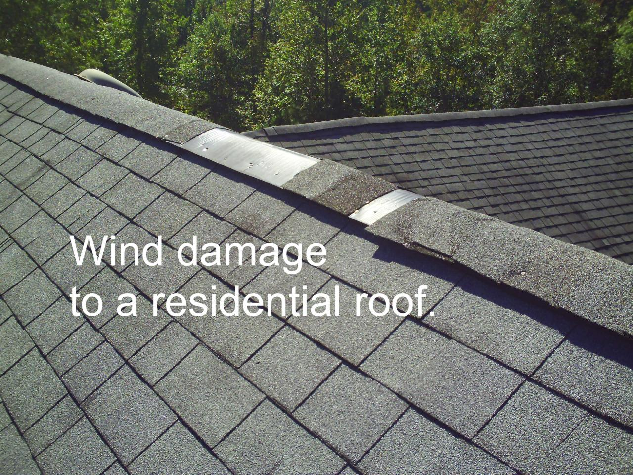 Flat Roof Hail Damage : Mr roofer do you have shingle damage from wind