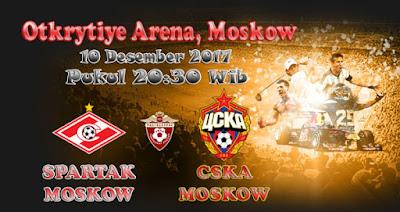 PREDIKSI SKOR SPARTAK MOSKOW VS CSKA MOSKOW 10 DESEMBER 2017 ~ Prediksi Bola Terbaik Indonesia