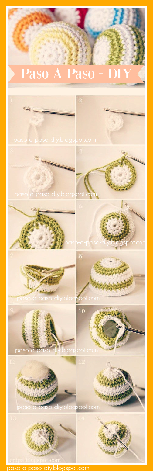 cómo hacer adornos de navidad tejidos al Crochet