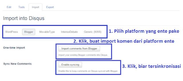 Cara Import Komentar Blog ke Disqus