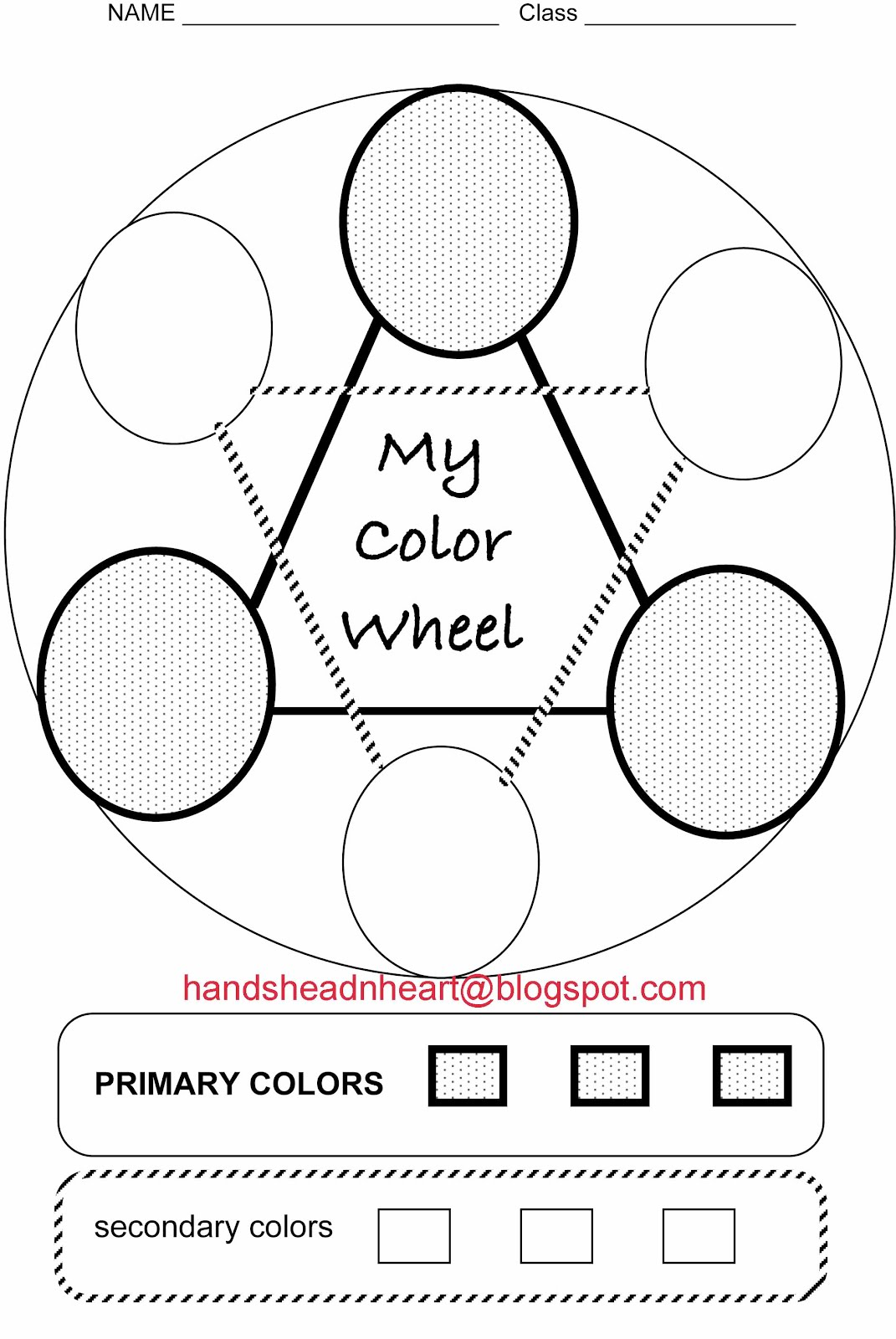 Hands Head N Heart In The Artroom Color Wheels With