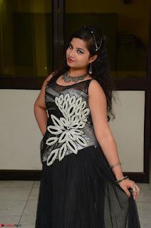 Shrisha Dasari in Sleeveless Short Black Dress At Follow Follow U Audio Launch 015.JPG