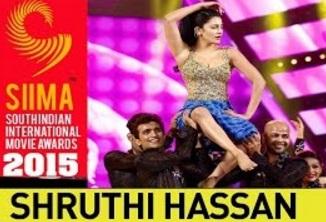 Shruti Hassan Sizzling Dance Performance | SIIMA 2015 Awards | Malayalam