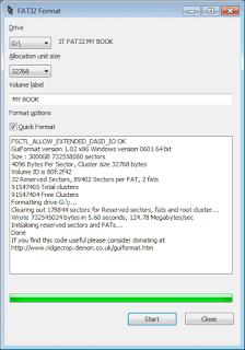 برنامج Fat32 Format لتهيئة الاقراص التى بحجم اكثر من 32 جيابايت