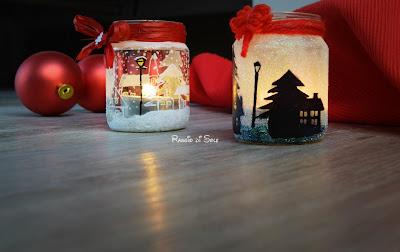 Semplici porta candele da riciclo barattoli decorati a mano