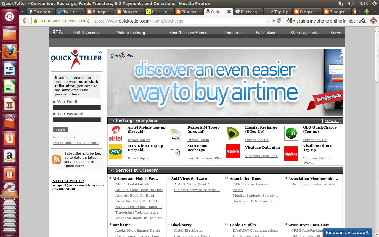 List of websites to buy MTN, GLO, Etisalat, Airtel, Visafone