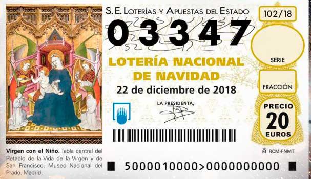 El gordo de la Lotería de Navidad (03347) pasa por Canarias