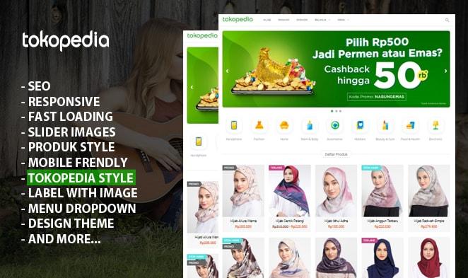 Blogpedia Blogger - Online Store Indonesian Premium Blogger Templates