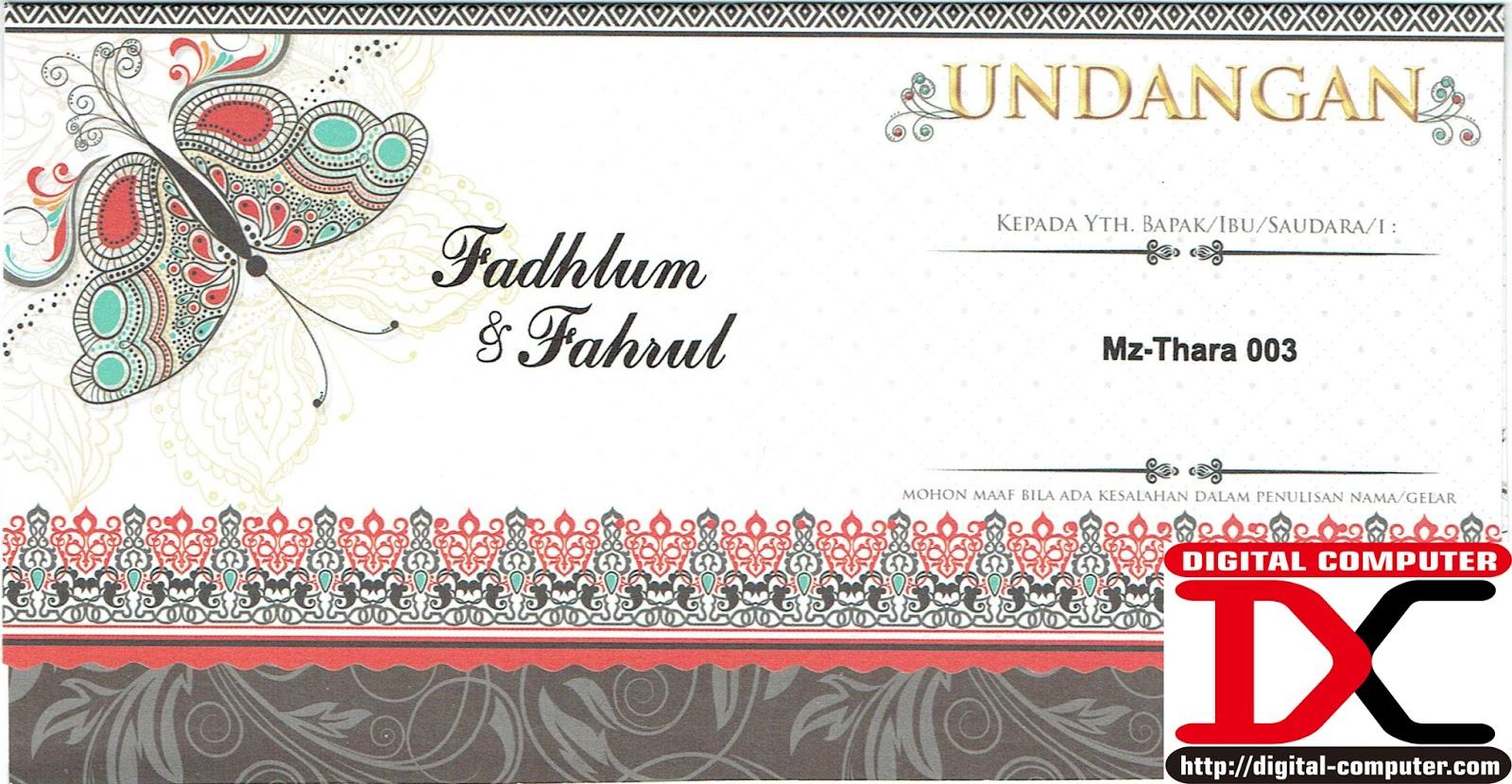undangan pernikahan softcover, undangan pernikahan harga 1000an rupiah
