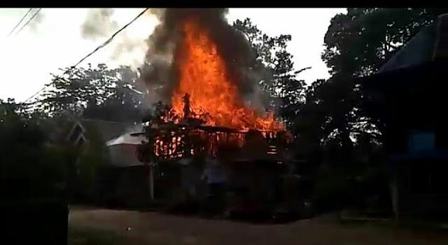 Satu Rumah di Desa Pinang Nibung Ludes Terbakar