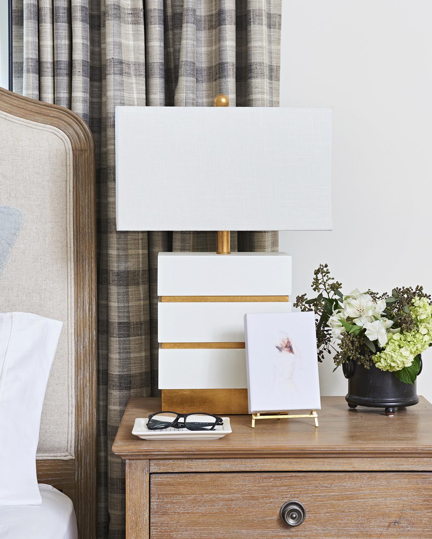 calm neutral master bedroom, Rambling Renovators, Couture Lamps Simeon, Minted art
