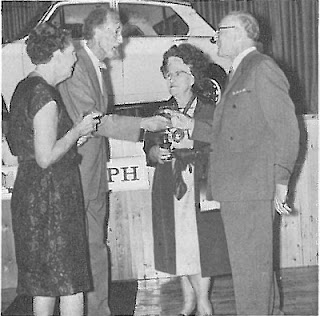 Mrs. M, Lambert, Fyfe Robertson, the Mayor of Eastbourne, and Mr. M. Lambert, Director and a founder of the firm, at the opening ceremony