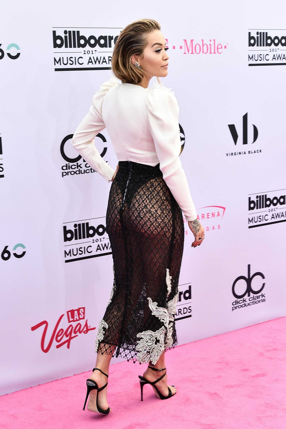 Rita Ora bares pert derriere at the 2017 Billboard Music Awards