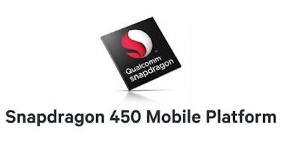 Menggunakan Prosesor Snapdragon 450 Octa-Core