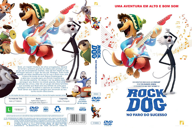Capa DVD Rock Dog No Faro do Sucesso [Custom]