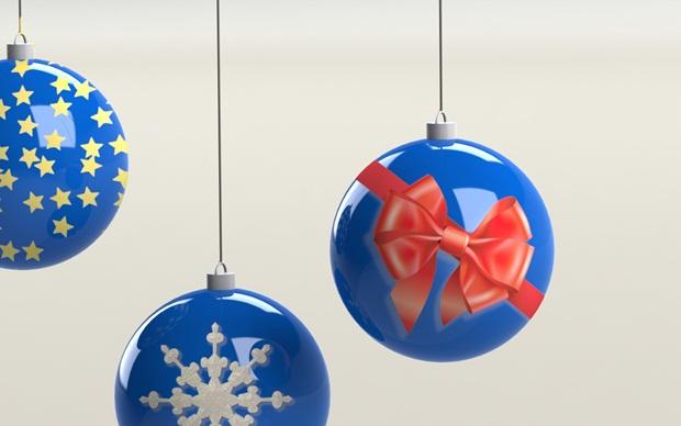 bolas de navidad modeladas con Solidworks