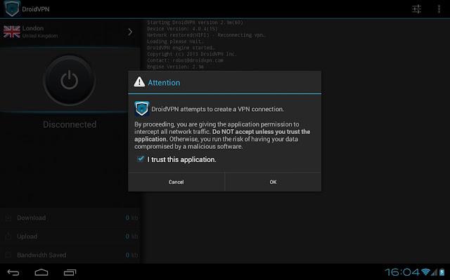 Droidvpn 2.5b App