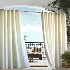 Outdoor decor Gazebo Indoor Outdoor Window Panels, 50 by 84, Natural