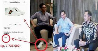 HEBOH, Sepatu Mewah Gibran Putra Sulung Presiden Jokowi yang Sederhana dan Merakyat