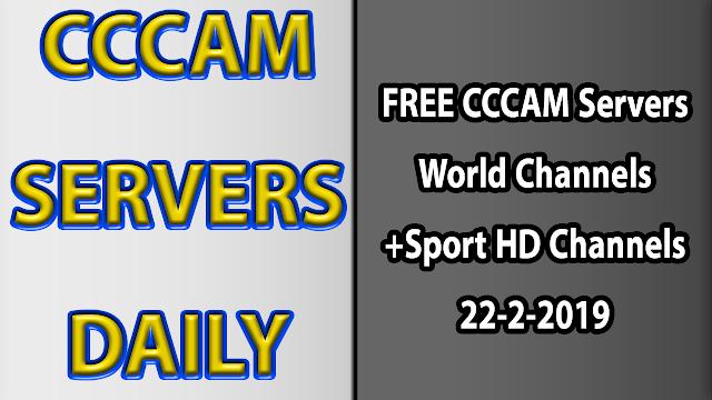 FREE CCCAM Servers World Channels +Sport HD Channels 22-2-2019