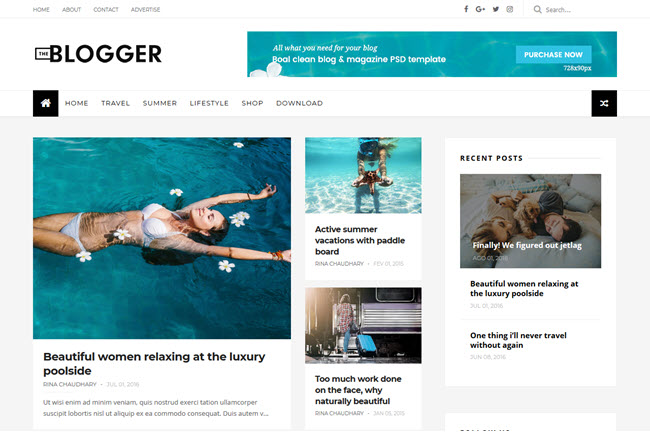 TheBlogger – Responsive Blogger Template