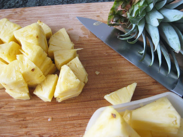 Juice Recipe:chopped pineapple