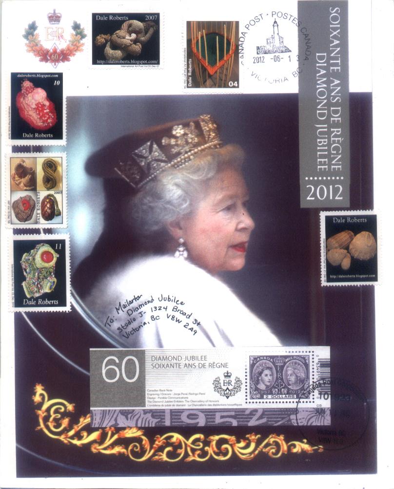 Diamond Jubilee Mail Art: Linda Rogers, Victoria, British