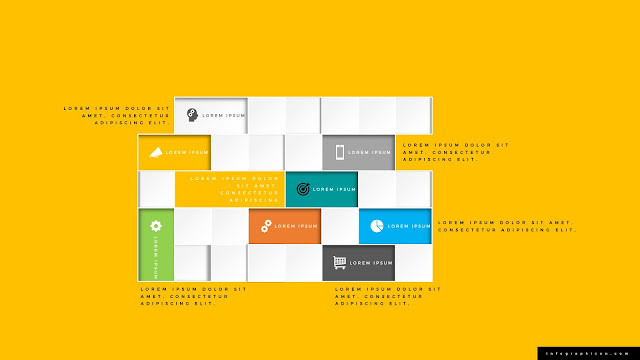 Square Block Diagram Infographics PowerPoint Slide Type B