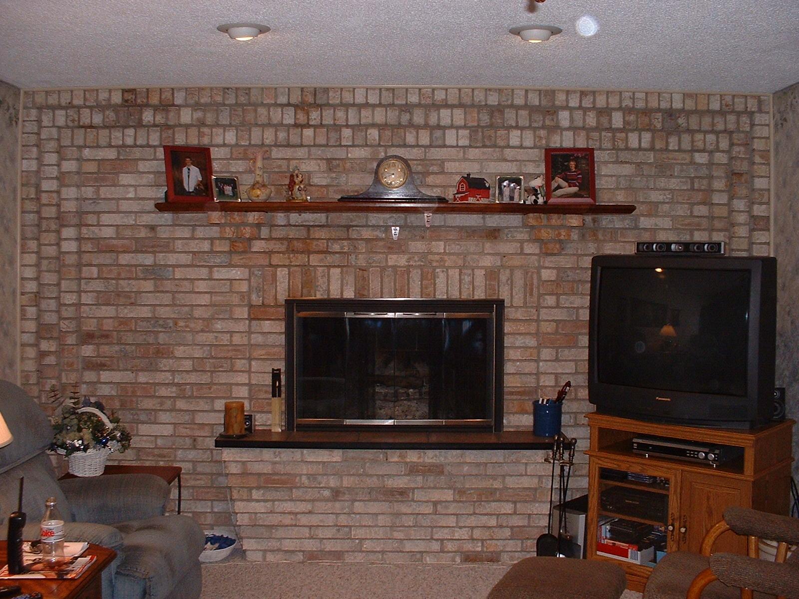 Brick Laminate Picture: Brick Fireplace