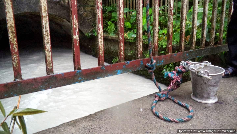Glacial water flowing under K.I. Singh bridge