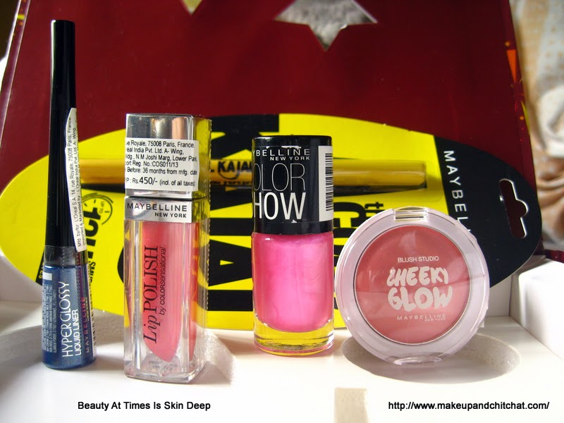 what's in Maybelline InstaGlam Box Pink