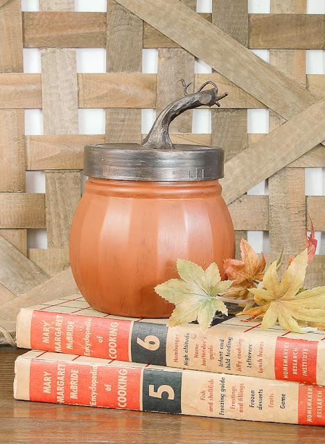 Dollar Tree painted jars to look like pumpkins