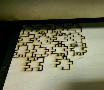 cutting puzzle pieces