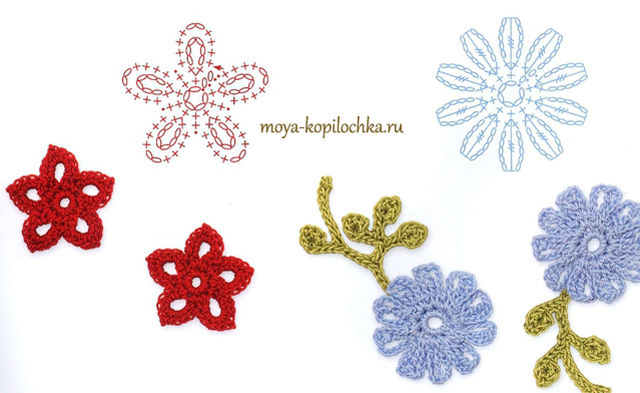 Ergahandmade 100 Crochet Flowers Diagrams Part 2