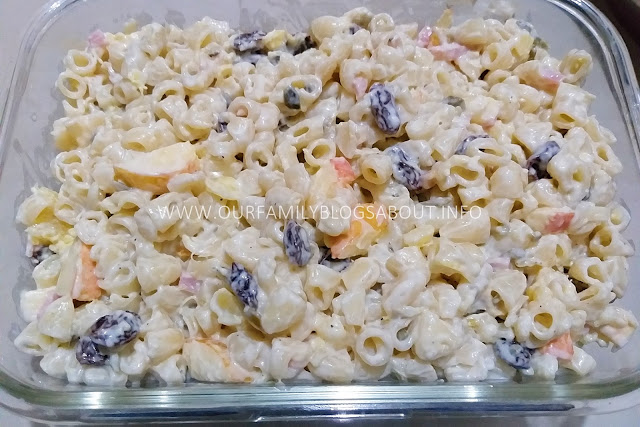 Cheesy Macaroni Salad, recipe, easy recipe, salad, pasta recipe,