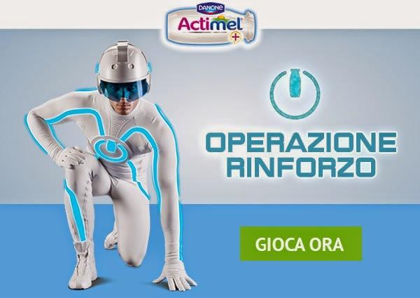 Logo Concorso Actimel Operazione Rinforzo e vinci giacconi piumini invernali