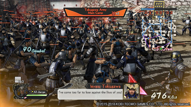 Review – Samurai Warriors 4 Empires battle