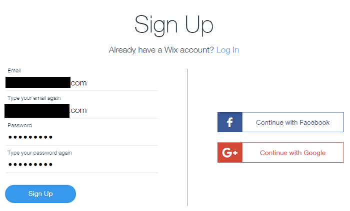 WIX註冊