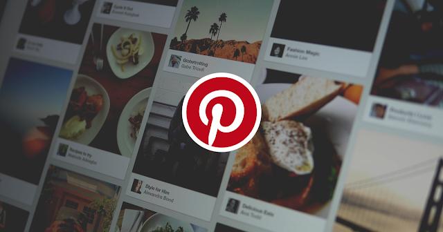Botão do Pinterest sobre as imagens do blog