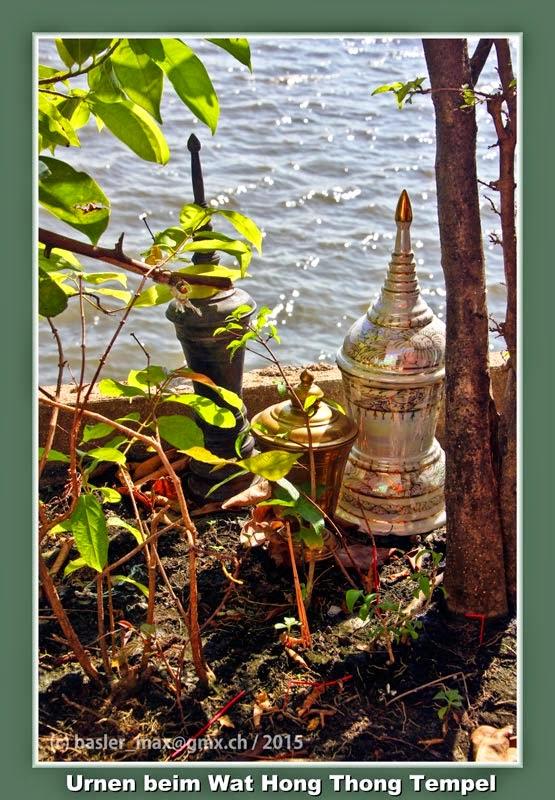 Buddhismus, Tempel, Wat, Hong Thong, Urnen, Kremation