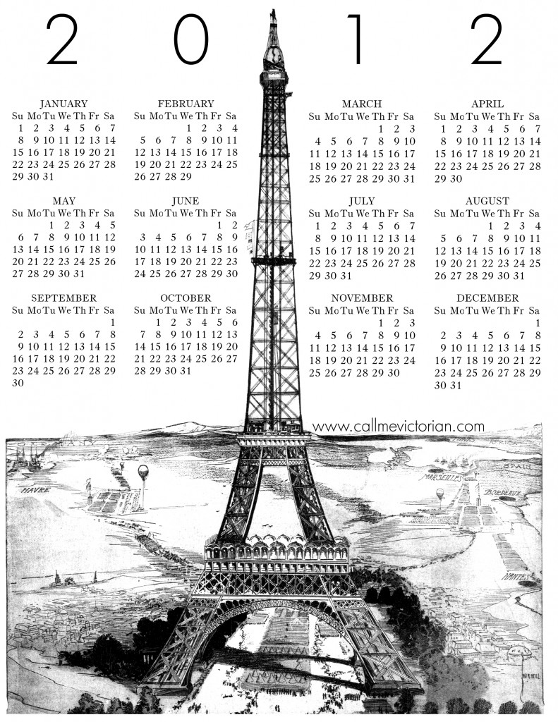 A Woman Of Process: Free printable calendars for 2012