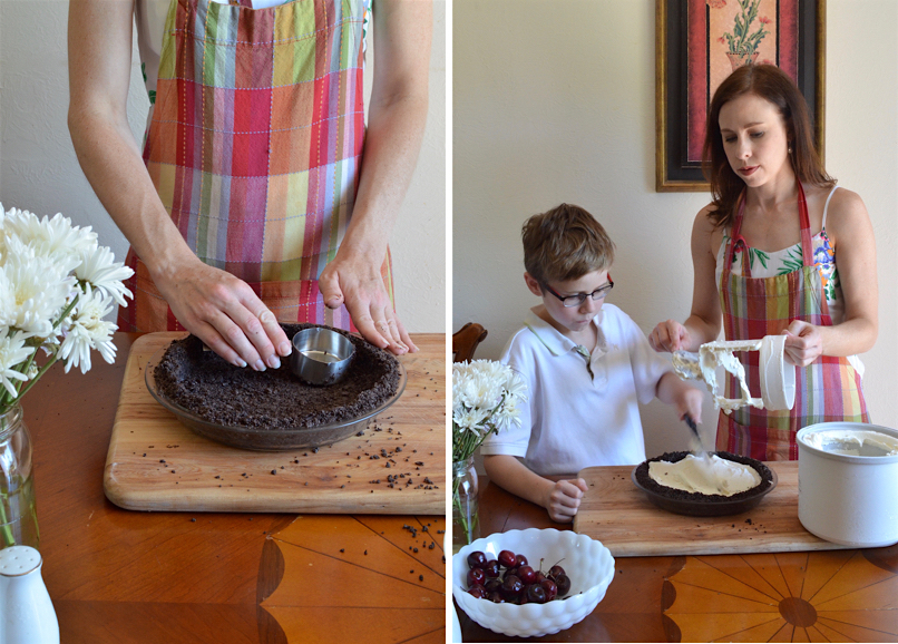 Making a homemade, nut-free ice cream pie is easy!