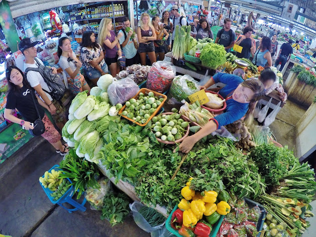 Local Thai Market Tour in Chiang Mai, Thailand. June 26-2017